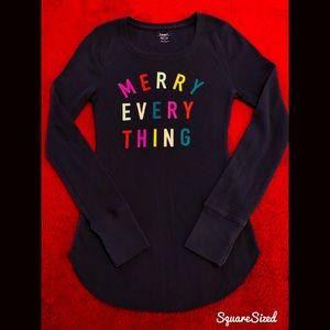 Like New! Christmas/Holiday Thermal Top